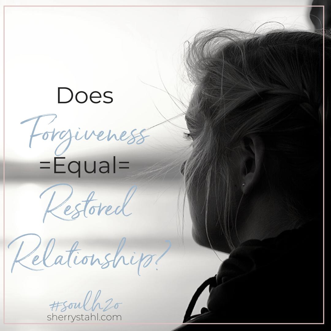 Forgiveness restored relationship