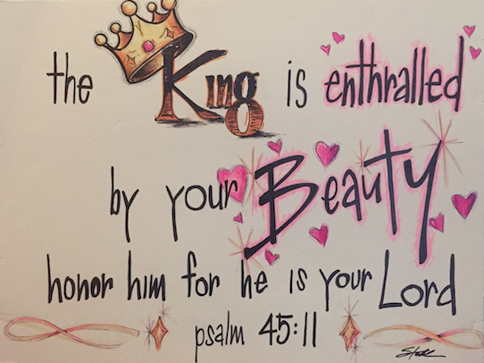 Pure Beauty Verse-Ps 45-11 king enthralled