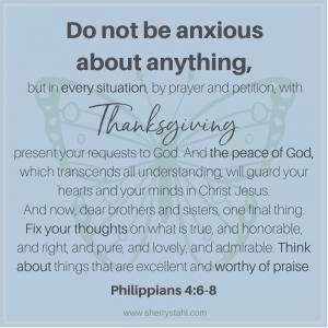 Philippians 4: 6-8