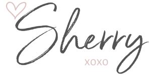 Sherry Signature - pink heart xoxo