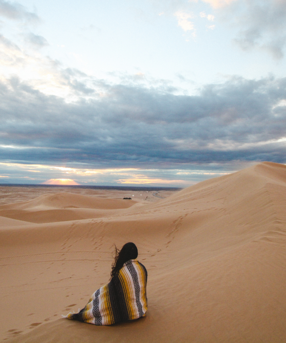 girl in desert with blanket TTD Sales Page